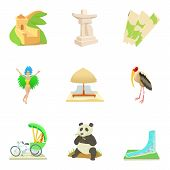 Global Entertainment Icons Set. Cartoon Set Of 9 Global Entertainment Vector Icons For Web Isolated  poster