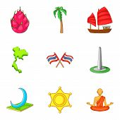 New Discovery Icons Set. Cartoon Set Of 9 New Discovery Vector Icons For Web Isolated On White Backg poster