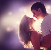 stock photo of loving_couple  - Young Couple in love - JPG