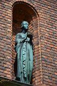 Stockholm, Sweden - July 2014: Decorating Statue At The Courtyard In Stockholm City Hall, Sweden's F poster