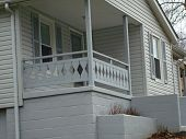 White Home With Porch