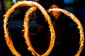Fire Dancers Swing Fire Dancing Show Fire Show Dance Man Juggling With Fire poster