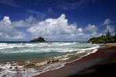 The Beach On Hana's Coastline, Maui Island, Hawaii