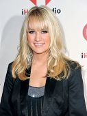 LAS VEGAS - SEPTEMBER 23: Carrie Underwood appears on the red carpet at the 2011 iHeartRadio Music F