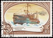 Russia Post Stamp Icebreaker Ship Sadko Arctic Ice