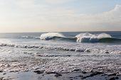 Ocean Waves Crashing Reefs poster