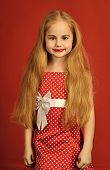 Fashion And Beauty, Pinup Style, Childhood. Retro Look, Hairdresser, Makeup. Retro Girl Or Fashion M poster