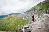 Buddhist Monk In Mountains