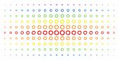 Cogwheel Icon Rainbow Colored Halftone Pattern. Vector Cogwheel Shapes Are Arranged Into Halftone Gr poster