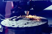 3d Metal Printer Produces A Steel Part. A Revolutionary Technology For Sintering Metal Parts. Soft F poster