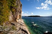 Lake Superior Agawa Rock landscape