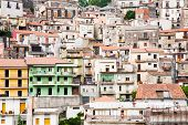 Dense Houses In Sicilian Town Castiglione Di Sicilia