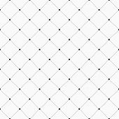 Vector Seamless Pattern. Geometric Background With Dotted Rhombuses. Dots Connected With Dotted Line poster