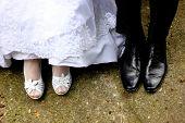 Bride And Groom Foot