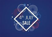 4th Of July Exclusive Offers Sale, Sale Poster, Sale Banner, Sale Flyer, Extra Discount Offer, Onlin poster
