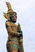 Thai Giant Guardian Statue