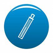 Old Thermometer Icon. Simple Illustration Of Old Thermometer Vector Icon For Any Design Blue poster