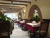 stock photo of luka  - A nice restaurant in Banja Luka Bosnia ambiental light for good relacsation durring dinner - JPG