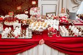 Delicious Wedding Reception Candy Bar Dessert Table poster