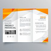 Abstract Orange Trifold Brochure Design Business Template poster