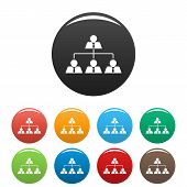 Leadership Icon. Simple Illustration Of Leadership Vector Icons Set Color Isolated On White poster
