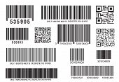 Realistic Bar Code Icon. A Modern Simple Flat Barcode. Marketing, The Concept Of The Internet. Fashi poster