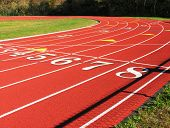 Side View Of Running Track.