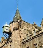 Royal Mile. fragment of the house. The Royal Mile is a succession of streets which form the main tho