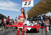 SEPANG - JUNE 10: The Motul Autech Nissan GTR car of the Nismo Team waits on the starting grid on ra