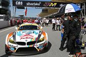 SEPANG - JUNE 10: The BMW Z4 GT3 car of GSR&Studie with TeamUKYO waits on the start grid on race day