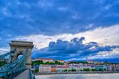 The Buda Side Of Budapest, Hungary Along The Danube River. poster