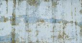 Painted In Blue Metal Rusted Background. Metal Rust Texture. Erosion Metal. Scratched And Dirty Text poster