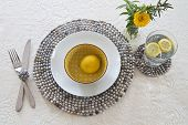 Table Setting With Beaded Mats