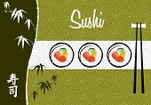 Sushi Banner Illustration Background