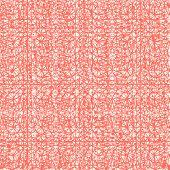 Salmon And White Tie Dye Seamless Pattern.  Shibori Seamless Print. Watercolor Hand Drawn Batik.  Ha poster