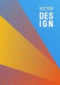 Linear Geometry Poster Background Vector Template. Flyer Mix Digital Background Blend. Elegant Comme poster