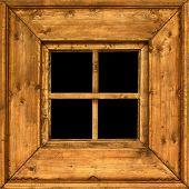 Old Wooden Rural Window Frame