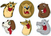 Smiling Face Fridge Magnet/Stickers  (Animals) poster