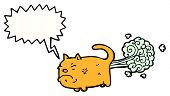 stock photo of farting  - cartoon farting cat - JPG