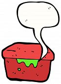 cartoon leaky lunchbox
