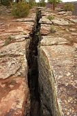 Fault Line Or Fracture In The Earth