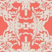 Terracotta And White Tie Dye Seamless Pattern.  Shibori Seamless Print. Watercolor Hand Drawn Batik. poster