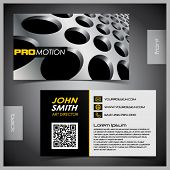 picture of qr-code  - Vector abstract creative business cards  - JPG