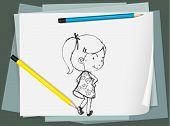 Beispiel für eine Skizze auf Papier