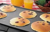 Blueberry Pancakes On The Grill