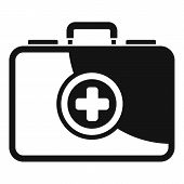 First Aid Kit Icon. Simple Illustration Of First Aid Kit Vector Icon For Web Design Isolated On Whit poster