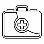 First Aid Kit Icon. Outline First Aid Kit Vector Icon For Web Design Isolated On White Background poster
