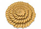 Potato Chip Circular Pattern