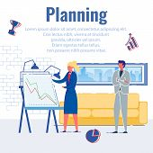 Company Work Planning For Growth And Success. Girl Employee, Company Offers Boss Work Plan So That B poster