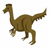 Park Dinosaur Icon. Isometric Of Park Dinosaur Vector Icon For Web Design Isolated On White Backgrou poster